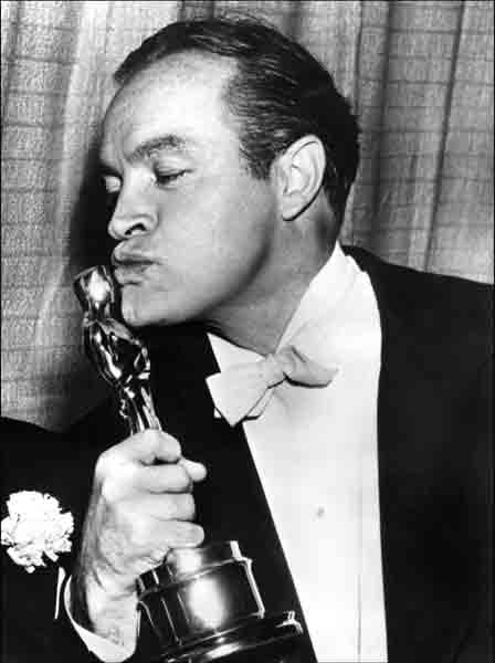 Bob Hope celebrated his honorary Oscar in 1953.