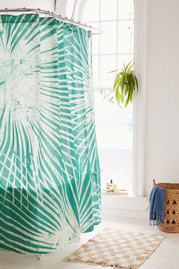 Urban Outfitters Batik Palm Print Shower Curtain