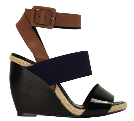 """The black and navy color combo of these wedges keeps them sophisticated, but the small sliver of espadrille gives a wink to the beach."" — Brittney Stephens, assistant editor.  Pierre Hardy Leather and Canvas Block Wedge ($595)"