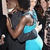 Matthew McConaughey gave Lupita Nyong'o a huge hug.