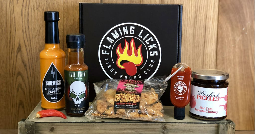Flaming Licks Hot Sauce Subscription Box