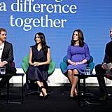 فبراير: انضمّ كلّ من ميغان وهاري إلى الأمير وليام وكيت ميدلتون في المنتدى السنويّ للمؤسّسة الملكيّة بالعاصمة لندن.