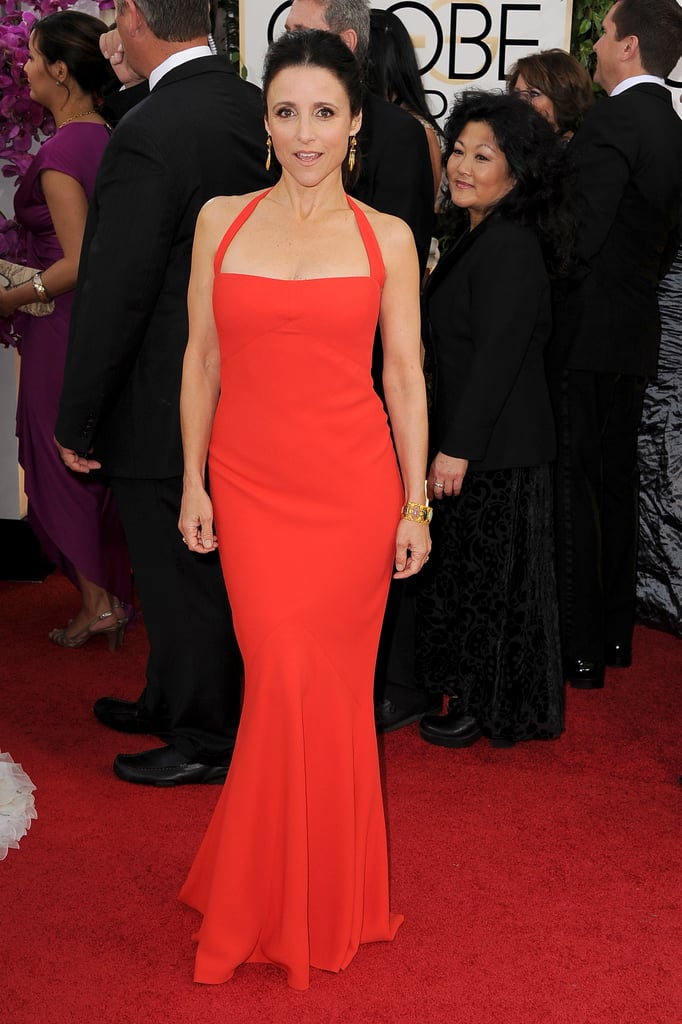 Julia Louis-Dreyfus flaunted her figure on the red carpet.
