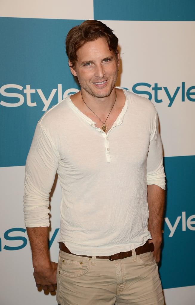Peter Facinelli faced photographers at the Summer Soiree.