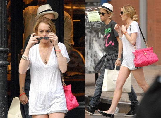 Photos of Lindsay Lohan Who May Have Been Hit By A Motorcyle in NYC