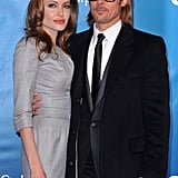 Brad Pitt was on hand to see Angelina Jolie earn an award at the Cinema for Peace gala.