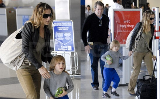 Sarah Jessica Parker and Matthew Broderick with James Wilkie at LAX