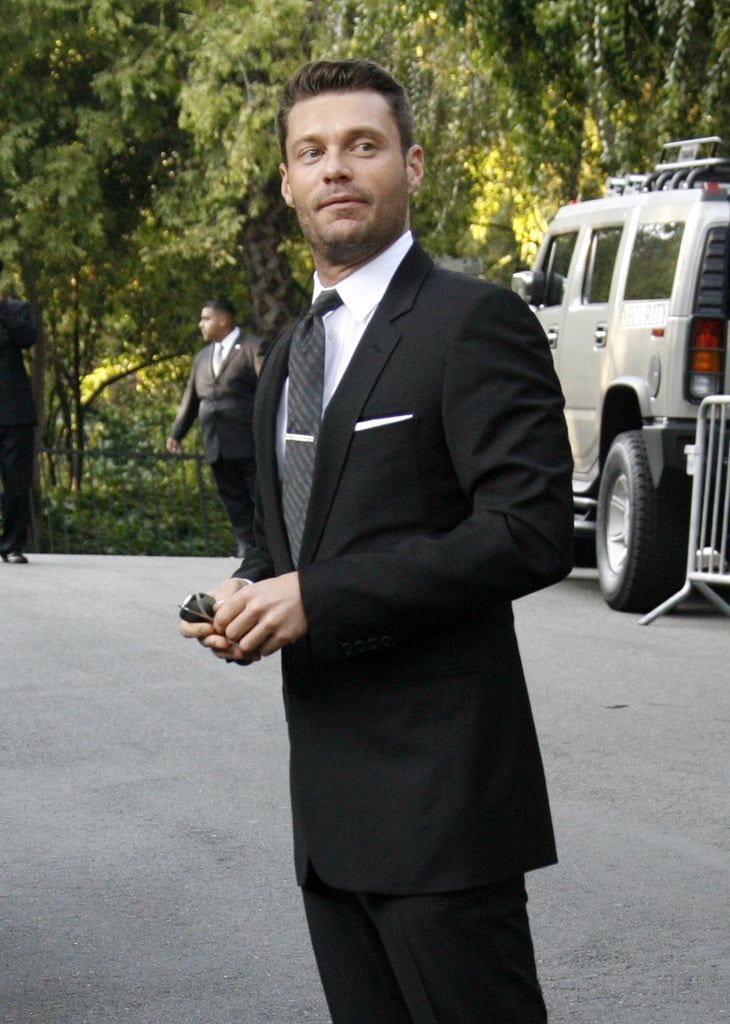 Ryan Seacrest made a serious entrance at Khloé Kardashian and Lamar Odom's LA nuptials in September 2009.
