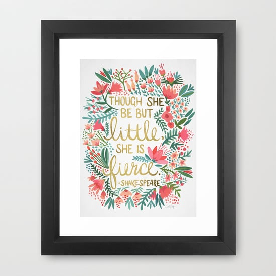 Framed Shakespeare Quote Print ($35)