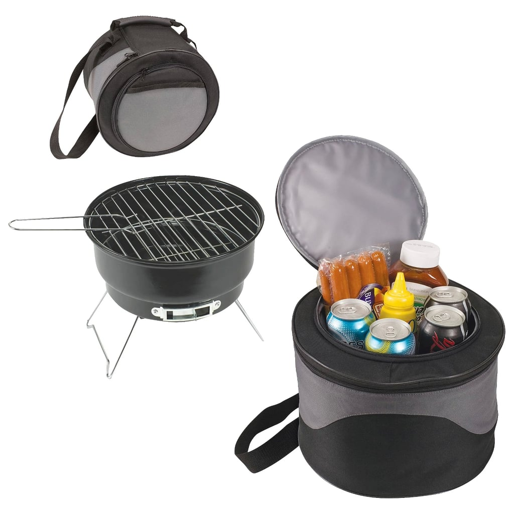 Charcoal Grill with Tote and Cooler