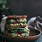 Chickpea Salad Sandwich with Beet Crisps