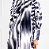 Alexander McQueen Oversized Cutout Striped Cotton Poplin Shirt