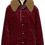 Marc Jacobs Burgundy Oversized Corduroy Coat