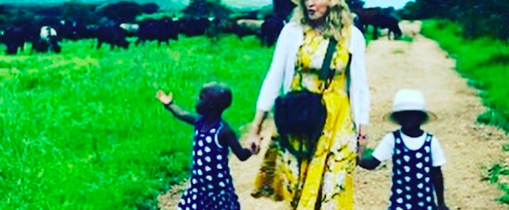 Madonna's Newly Adopted Twins Singing