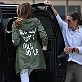 Melania Trump Wore a Jacket With a Rather Blunt Message