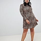 New Look Curve Print Dress in Leopard