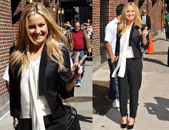 Pictures of Kate Hudson on The Late Show With David Letterman
