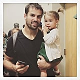 """Good game daddy!!!!!! Thanks for sending me pix and updating me @mamakarenparker :) I stayed back with lil' man cause he's too little right now to go but we cheered loud and proud at home!!"""
