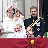 Prince William and Prince Harry were completely upstaged by Harry's adorable children at the Trooping the Colour parade in 2016.