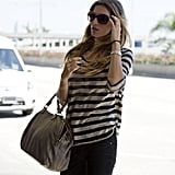 Gisele Is a Vision in Stripes Departing LAX