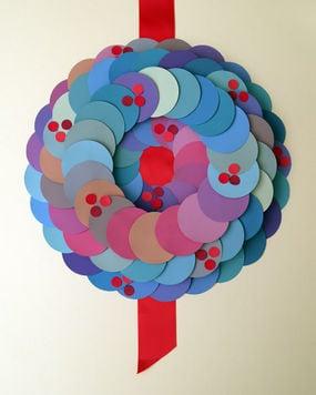 DIY: Paper Wreath