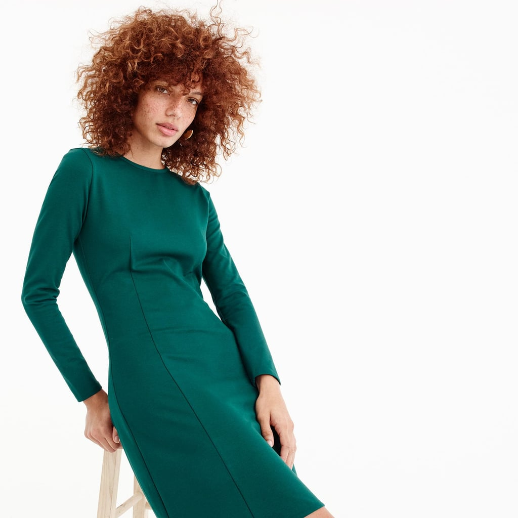 J.Crew Long-Sleeve Sheath Dress