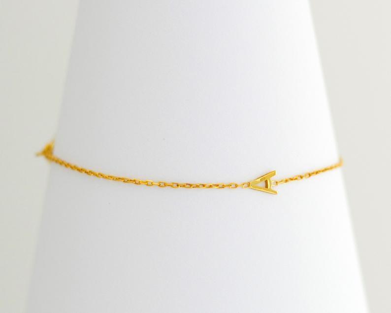Tiny Letter Bracelet