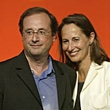 Back in 2005, Francois Hollande and then-partner Ségolène Royal pose. They both would go on to be the Socialist Party presidential nominee and face Nicolas Sarkozy.