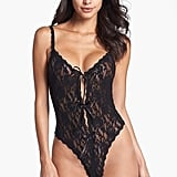 """Hanky Panky """"Signature Lace"""" Open Gusset Teddy ($78)"""