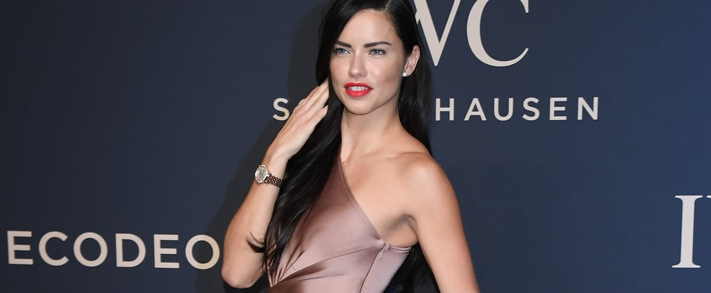 Adriana Lima's Neutral Silk Gown Looks Simple — Until She Turns to the Side