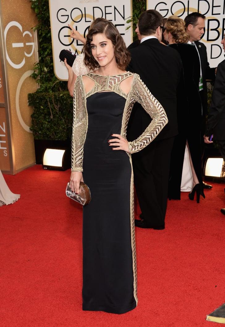 Lizzy Caplan 2014 Golden Globes Dresses POPSUGAR