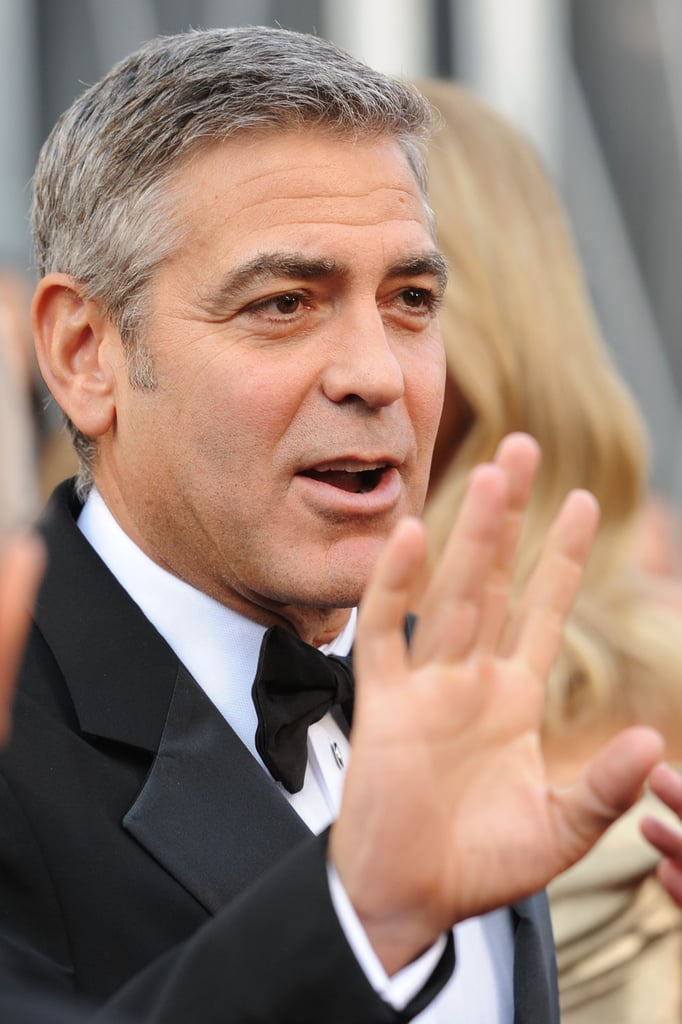 George Clooney on the Oscars red carpet.