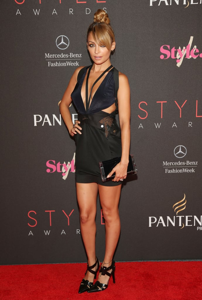 Nicole Richie took the plunge in a revealing cutout mini at the Style Awards.