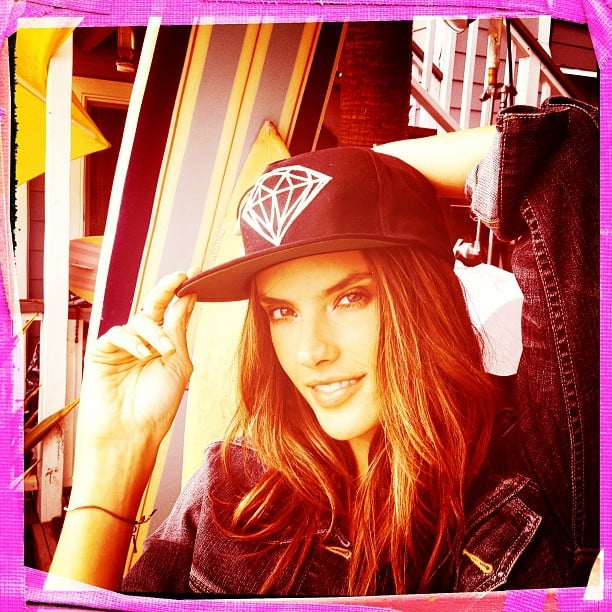 Alessandra Ambrosio worked the camera for photographer Ben Watts. Source: Instagram user wattsupphoto