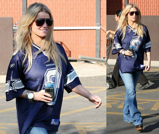 Photos of Jessica Simpson In Cowboys Shirt, Ashlee Has Labor False Alarm
