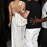 Casper Smart helped Jennifer Lopez into the restaurant in NYC.