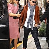 Jennifer Lopez out in NYC with her boyfriend.