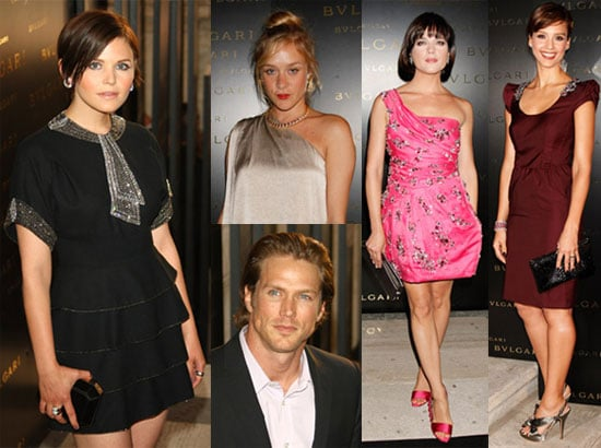 Photos of Chloe Sevigny, Ginnifer Goodwin, Jason Lewis, Jessica Alba, Selma Blair at a Bulgari Bash in Milan