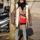 Style Your Leopard-Print Coat With: Sweater, Jeans, Pumps, and a Bag