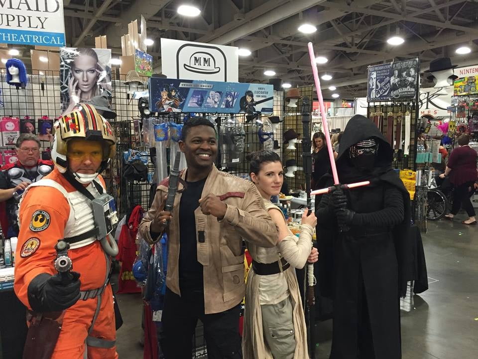 Here they are with Kylo Ren and Poe Dameron.