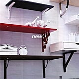 This new red shelf and circle ledge is so fun! I hope it comes in white.