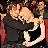 The two cuddled up in the audience at the American Music Awards in LA in November 2017.
