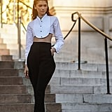 For Paris Haute Couture Fashion Week, Zendaya wore one of her most showstopping outfits yet. Dressed in an Armani cropped tuxedo-style top and black bottoms, her outfit was simple, sexy, and sophisticated all in one.