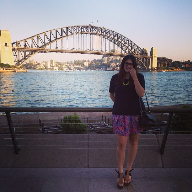 6:30am on a Friday morning, and the harbour looks prettier than ever. Gen wears Elin Kling for Marciano tee, Sprotsgirl necklace, Wittner heels and Paul & Joe Sister bag.