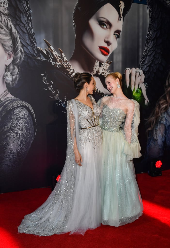 Angelina Jolie Elle Fanning Maleficent Uk Premiere Dresses