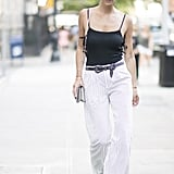 Side ties and cutouts give your high-waisted trousers a sexy kick.