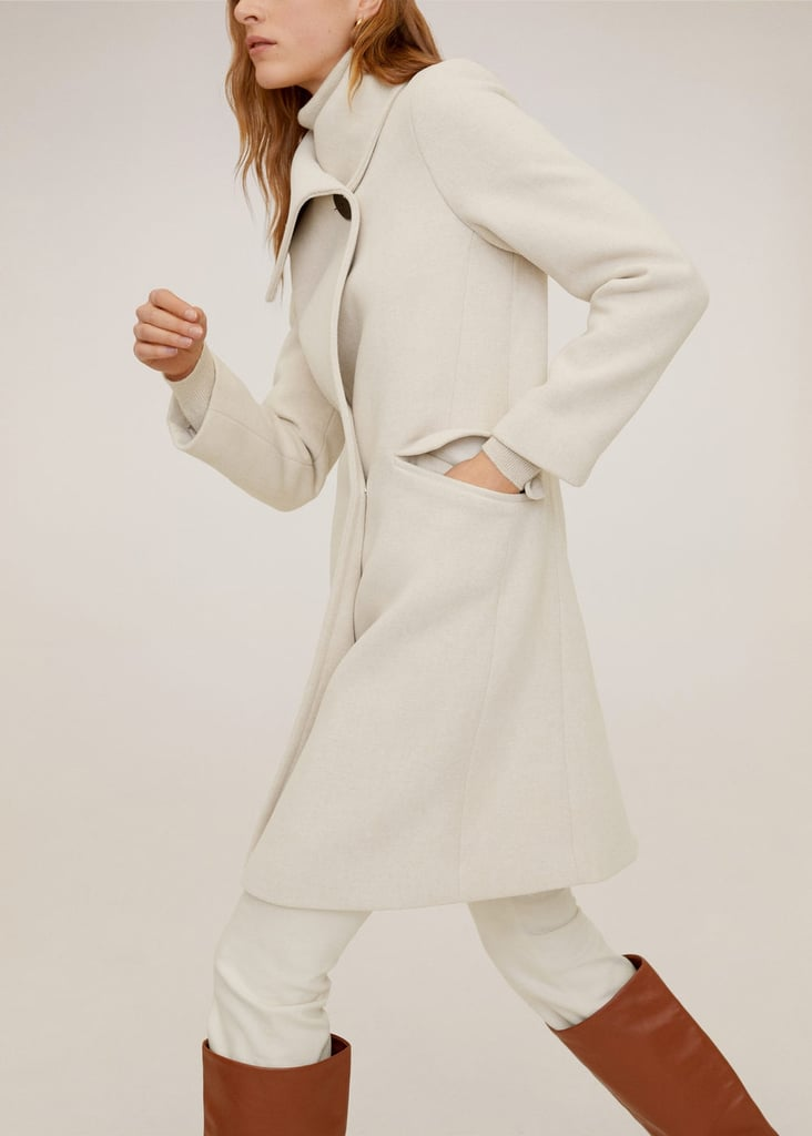 MNG Wide Lapel Coat