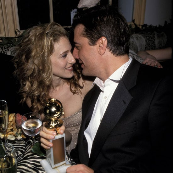 Sarah Jessica Parker and Chris Noth shared a sweet moment with her statue in 2000.