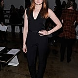 Kaylee DeFer looked chic in all black at Zero + Maria Cornejo.