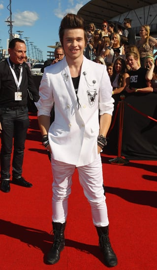 Pictures of The X Factor Winner Reece Mastin at 2011 ARIA Awards